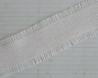 Linen Burlap Trim Cream 1 yard