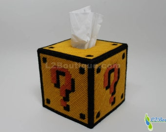 Mario Question Mark Block Tissue Box Cover