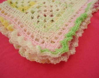 Pink & Green Lovey for Baby Girls or Toddlers to Snuggle and Cuddle