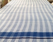 Vintage Striped Table Runner in Shades of Blue