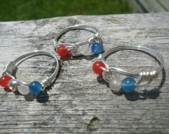 Acadian-themed wire wrapped ring made to order-- Any Size-- free shipping