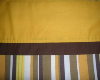 70s Striped FULL FLAT Sheet - Reclaimed Bed Linens