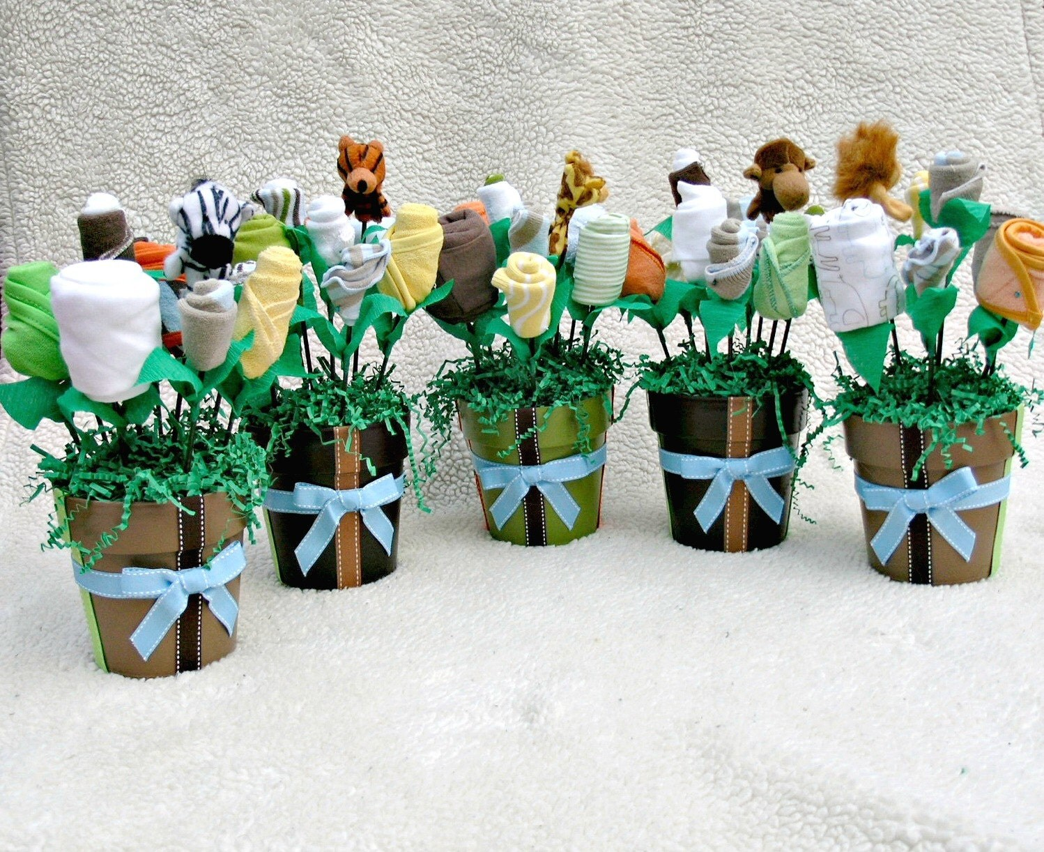 baby boy or girl shower centerpiece decorations by babyblossomco