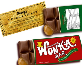 Sale WONKA BAR Christmas customize Printable digital chocolate bar candy label for kids stocking gift  or party invitation SALE