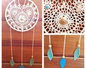 Kahakai Dreams - Upcycled Heart Doily Dreamcatcher
