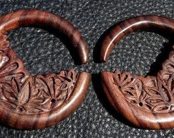 0 Gauge Ear plugs Lotus Hoops