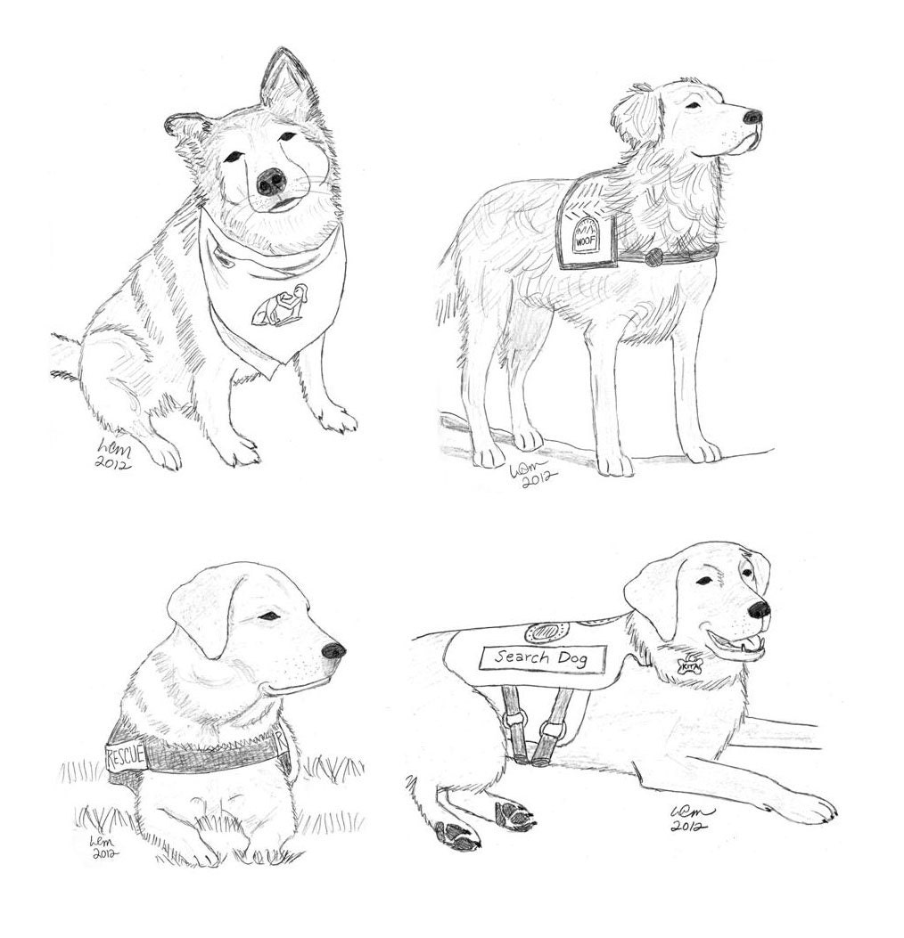 assistance dogs coloring pages - photo#24