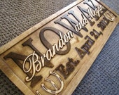 Rustic Couples Personalized Sign Custom Wood Family Last Name Wedding Gift Established Stall Barn Ranch Wall Plaque Horse Barn Horseshoes