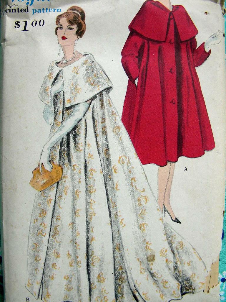 vintage 1950s vogue pattern 9823 rare hollywood glamour