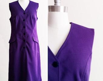 Sleeveless 60s Mod Dress in Purple sz Large