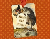 Halloween Tags Trick and Treats Eerie Sight