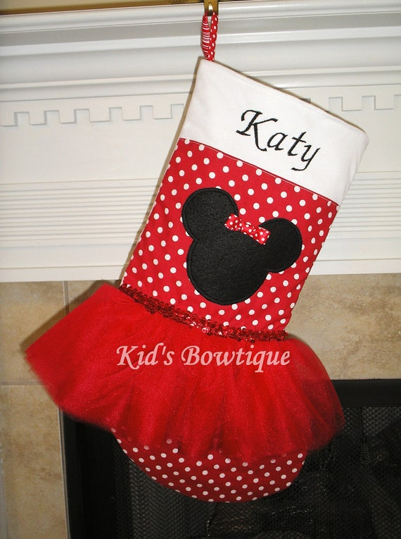 Disney Minnie Mouse Christmas Stocking Personalized