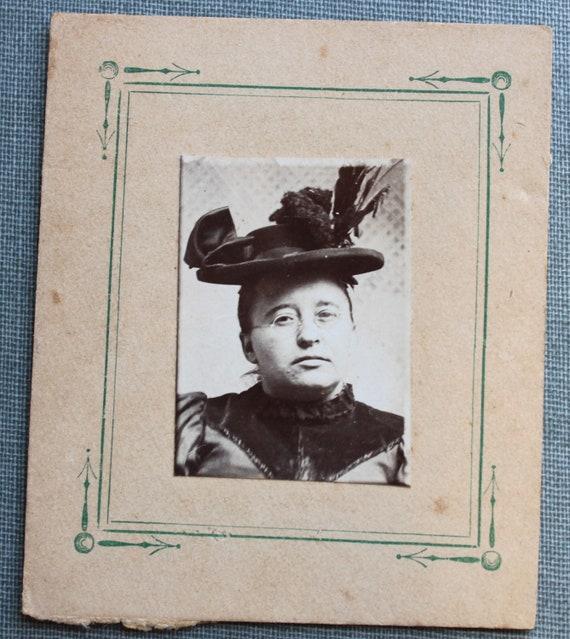 Victorian Portrait of a Woman wearing a Fancy Hat