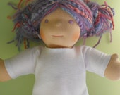 """White Long-Sleeved T-shirt for 10"""" Boy - Waldorf Doll Clothes - 10 Inch Little Buddy Size - LB"""