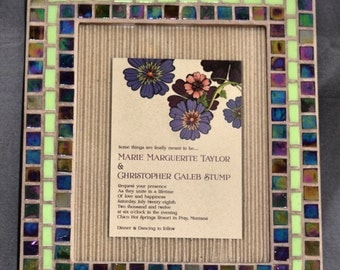 Custom mosaic frames