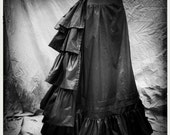 c. 1880 Victorian, Gothic Historic Bustle and Petticoat