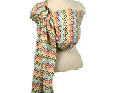 Baby Carrier Ring Sling Baby Sling - Rainbow Chevron - FAST SHIPPING - Instructional DVD Included