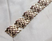 Gold tone woven link bracelet FREE SHIPPING