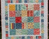Pattern for Fresh & Fun Modern Patchwork Crib Quilt