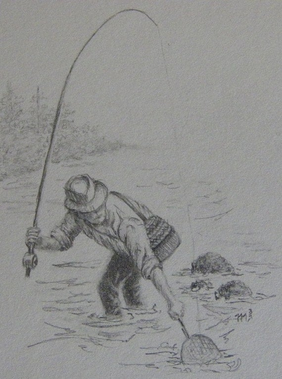 Fishes Pencil Drawing Fishing Black And White Pencil