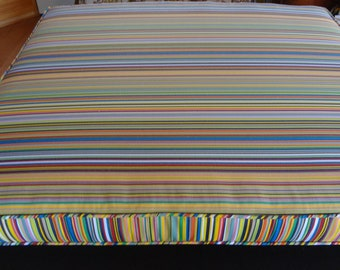 """One Reading Nook Cushion, 41""""x 37"""" x 3"""",Custom, use your own fabric, includes foam,double piping, batting, and zipper. Made to Order."""