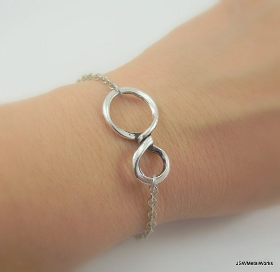 Infinity Platinum: Endless Loops Silver Infinity Bracelet Platinum Bracelet