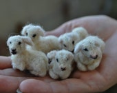 Needle felted animal, Tiny lamb, Needle felt animals, Felted lamb,  For custom orders