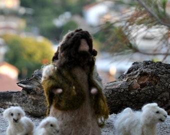 Needle felted Nativity. Waldof  Good shepherd