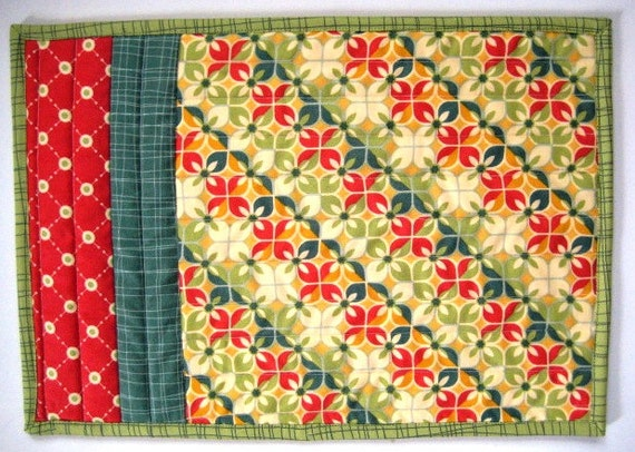 """Quilted Placemats, Snack Mats, Mug Rugs, Early Bird, 9""""x13"""""""