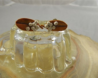 "Vintage Millinery Mistletoe Screwback Earrings: ""Meet Me Under the Mistletoe"""