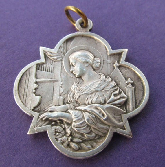 Saint cecilia medal images saint cecilia medal saint cecilia religious medal saint cecilia religious medal source abuse report aloadofball Image collections