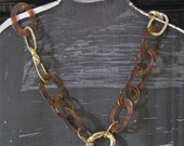 Golden meets brown Metal Necklace