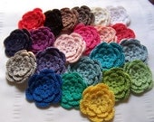 Crocheted motif flowers 2.5 inch choose your colors
