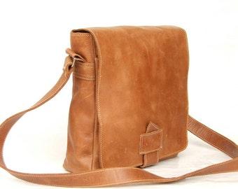 Leather bag leather bag light brown messenger bag Satchel bag shoulder laptop bag leather weekend bag