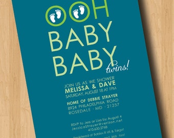 Ohh Baby Baby - Baby Shower Invitation - Digital Design Only