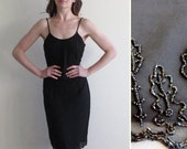 r e s e r v e d beaded tree lined cocktail dress . sheer black tie formal .small.medium .disaster relief .sale s a l e