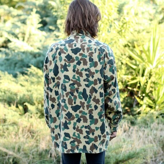 Vintage Eddie Bauer Camouflage Cotton Flannel - XL