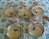 Fun Vintage Children's tea Set with birds