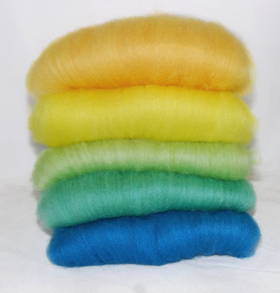 BFL/Silk Sea Glass Batts - 5 ounces