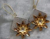 Flower Drop Earrings - Vintage Collection
