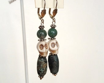 Dia de los Muertos Day of the Dead skull earrings