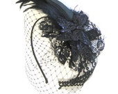 Black Swan Butterfly Fascinator.
