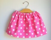pink polka dot skirt - minnie mouse - baby toddler girls - handmade