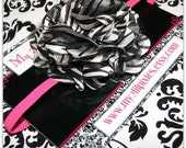 New Item- Fabric Flower on Itty Bitty Headband - Newborns Infants Babies Toddlers Tweens Adults photo prop Photography