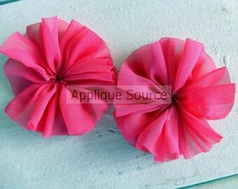 Chiffon Ballerina Pinwheels - Set of 2 Dark HOT PINK