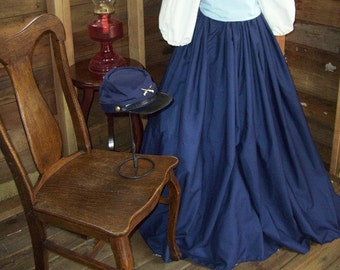 Civil War, Victorian, Reenactment Skirt With Sash, One Size Fits Most Ready to Ship