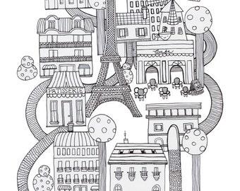 Paris / Ink on paper