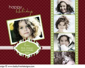 DIY Digital File U-Print Holiday Christmas card - Sarringer Design