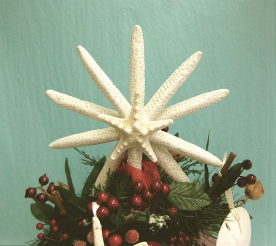 Beach Christmas Tree Topper: Starfish Tree Topper 7 8 Available By SeashellCollection