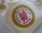 30 Muslin Favor Bags - 3x4inch - Birthday - Baby Shower - Thank You